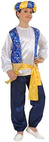 Widmann-WDM55398 Costume Ragazzo, Bianco Azzurro Giallo Nero, WDM55398