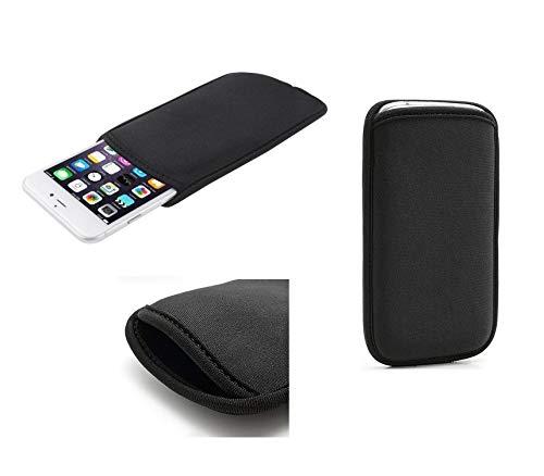 Funda de Neopreno Premium Impermeable y Anti-Golpes para = Samsung Galaxy S10+ Plus 6.4 Negra DFV mobile