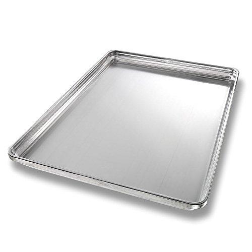 "Chicago Metallic 30850 Half-size Sheet Pan, 1"" Deep, StayFlat, Non-coated 18-ga. Aluminum"