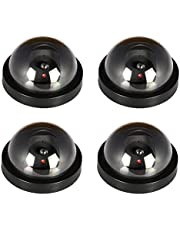 JOOAN Fake/Dummy Dome Security Camera Hemisphere Type Home/Store Surviellance Equipment with Twinkle Red Led