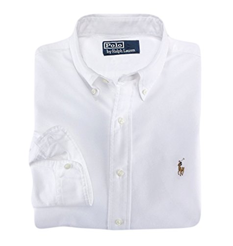 (Polo Ralph Lauren Mens Classic Fit Button Down Shirt (3X Big, Off-White))