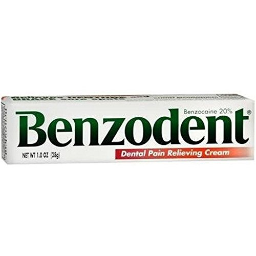 Benzodent Dental Pain Relieving Cream 1 oz (Pack of 3)