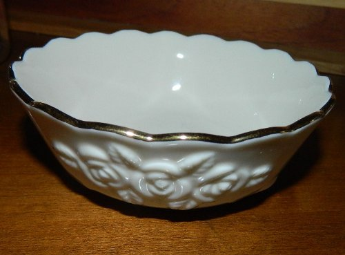 - Lenox embossed rose small candy nut dish ivory china with gold edge