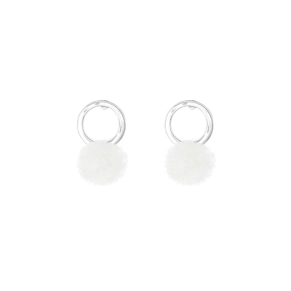 Girls Circle Colorful Ear Studs 925 Sterling Silver
