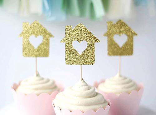 Housewarming Party Cupcake Toppers | New Home Owner Gift | Welcome Home Present | Set of 12