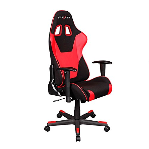 DXRacer Formula Series DOH/FD101/NR Newedge Edition Office Chair Gaming Chair Ergonomic Computer Chair eSports Desk Chair Executive Chair Furniture With Pillows (Black/Red) - Low Back Swivel Rocker