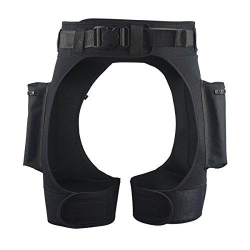 Layatone Wetsuit Shorts Pocket for Men Premium 3mm Neoprene Diving Short Fishing Surfing Snorkeling Canoeing Shorts with Big Pocket Tech Scuba Shorts Wet Suit for Men (Black)