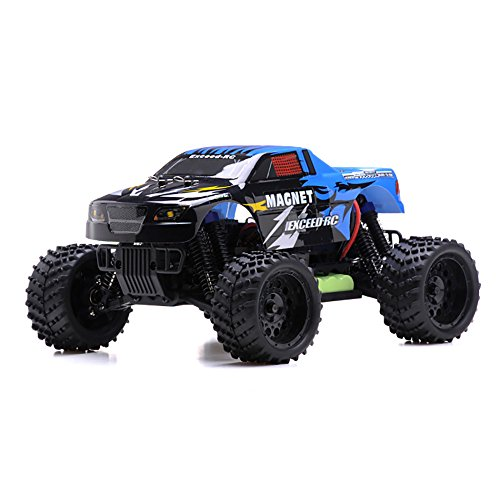 Rtr Esc Electric Rc Truck (1/16 2.4Ghz Exceed RC Magnet EP Electric RTR Off Road Truck Sava Blue)