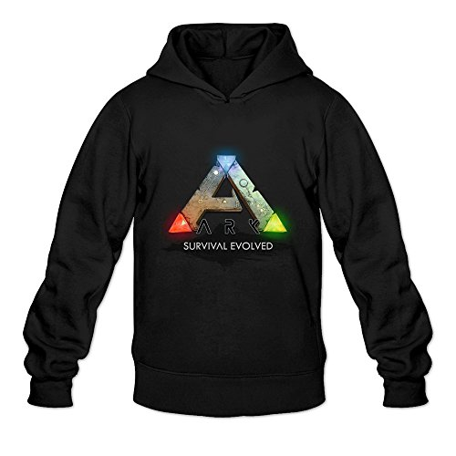 Price comparison product image Cool Ark Survival Evolved ARPG Game Logo Long Sleeve Hoody For Man Black Large