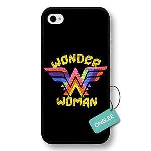 A-Lee(TM) - Customize Cartoon Black Superwoman Wonder Woman iPhone 4/4s case - Black 5 by ruishername