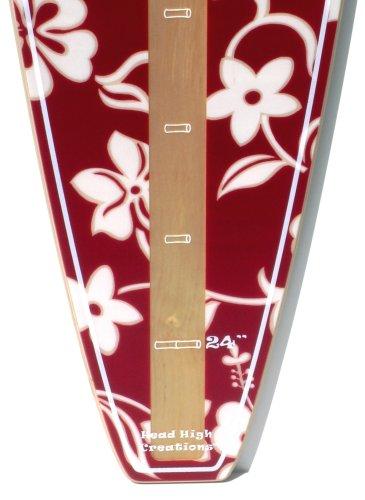 Red Hawaiian Surfboard Growth Chart by Head High Creations
