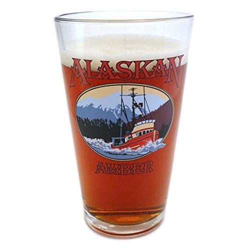 Alaskan Brewery Alaskan Amber Pint Glass - Alaska Glass