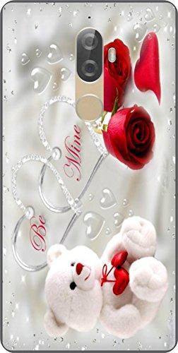 shengshou teddy bear design mobile back cover for lenovo k8 plus  silver red   Silver