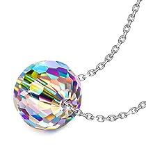 Alex Perry Regalo para Madre, Mundo Fantástico 925 Plata Aurore Boreale Fabricados con Cristales Swarovski Colgante Collar