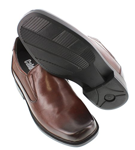 Calden K31713-3.3 Inches Taller - Height Increasing Elevator Shoes-dark Brown Slip-on Dress Shoes