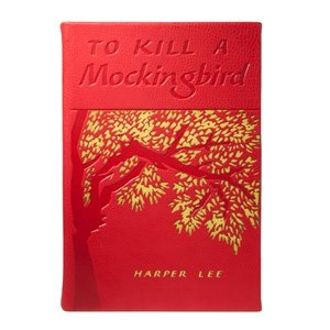TO KILL A MOCKINGBIRD by Harper Lee special edition in Red French Calfskin Leather - - Hand Signed Buffalo