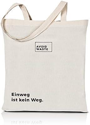avoid waste - bolsa reutilizable de algodón bolsa sostenible ...