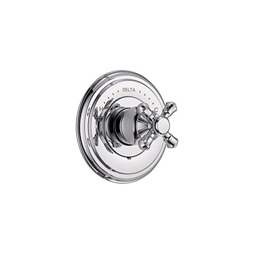 Delta Cassidy Monitor 14 Series Chrome Finish Pressure Balanced Shower Faucet Control INCLUDES Rough-in Valve and Single Cross Handle (Lhp Chrome Monitor)