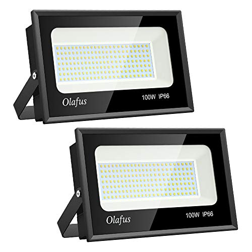 Olafus 2 Pack 100W LED Flood Light Outdoor