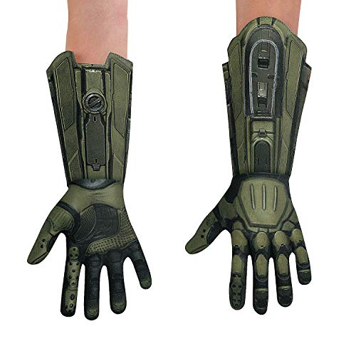 Fun Express - Master Chief Gloves Adult for Halloween - Apparel Accessories - Costume Accessories - Costume Props - Halloween - 1 Piece ()