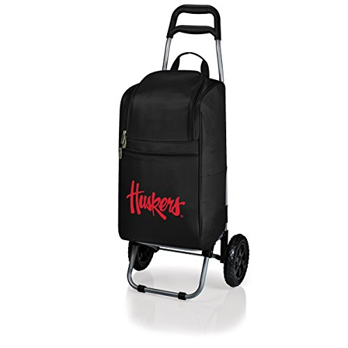 - NCAA Louisville Cardinals Insulated Cart Cooler with Wheeled Trolley, Black