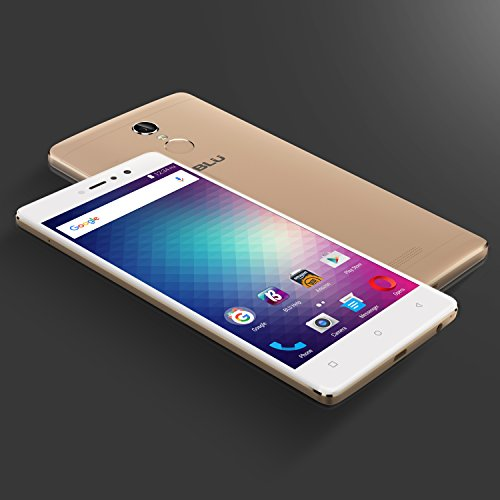 "BLU VIVO 5R (32GB) 5.5"" Full HD, Dual SIM 4G LTE GSM Factory Unlocked Smartphone with Fingerprint Sensor, Gold"