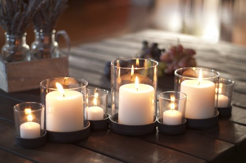 Bubbles Glass & Iron Multiple Candle Holder (Long Glass Candle Holder)