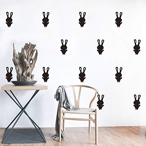 Mural ZOZOSO DIY Creative Carved Wall Stickers Cute Bunny Bedroom Children's Room Tv Background Wallpaper Decoration Self-Adhesive Painting