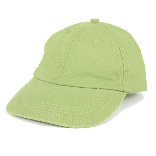 Profile Chino Twill Cap (Armycrew Toddler to Youth Washed Chino 100% Cotton Twill Cap with Adjustable Strap - Apple Green)