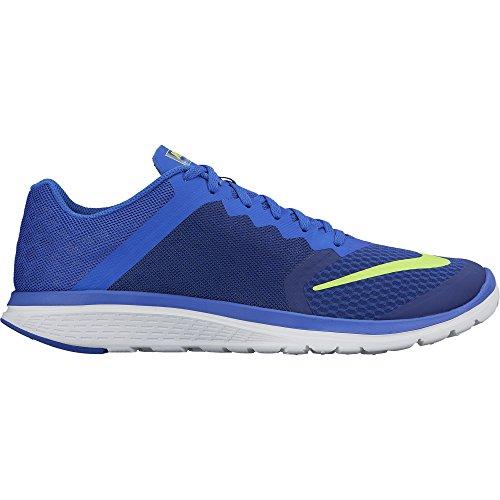 Men's Nike FS Lite Run 3 Running Shoe Deep Royal Blue/Volt/Racer Blue/White Size 8.5 M US 807144-403