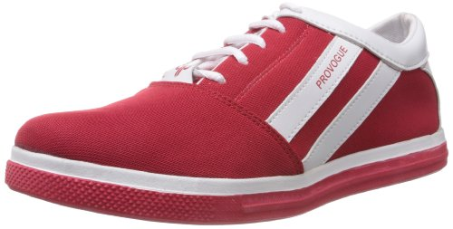 Provogue Men's Red Canvas Sneakers - 8 UK