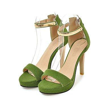 cms Green LvYuan Rosa Negro 12 Cremallera Beige Stiletto Otoño Sandalias 10 Tacón Verde Verano Mujer Primavera Semicuero f1faWZq