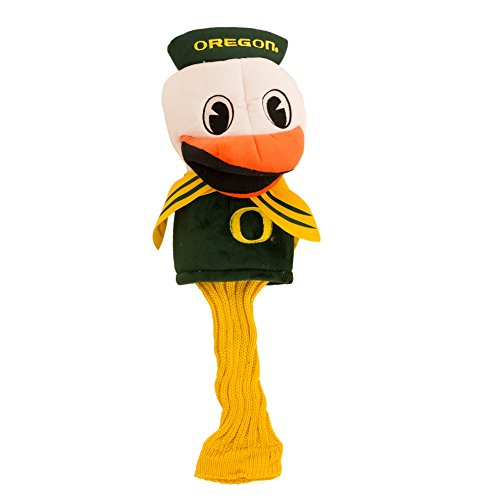 Team Golf NCAA Oregon Ducks Mascot Golf Club Headcover, Fits most Oversized Drivers, Extra Long Sock for Shaft Protection, Officially Licensed Product