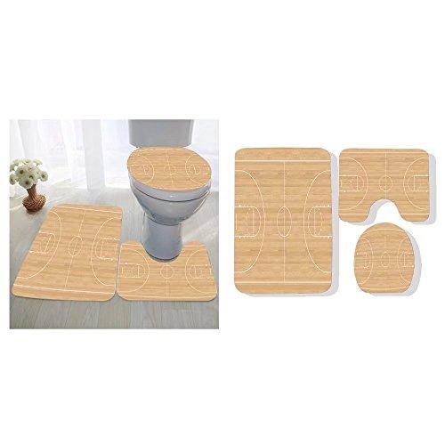 Edongquwe three-piece toilet seat pad custom basketball court