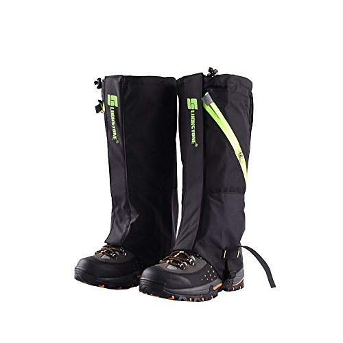 Unisex Snake (eForCrazy Outdoor Men's Waterproof Breathable Unisex Double Sealed Snake Gaiter Hiking Mountain Leg Protection Bug out Gaiters)