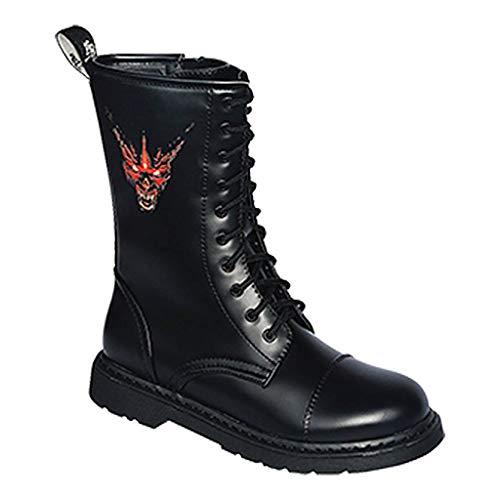 scuri Vari Devil 10 666 Knightsbridge UK Creare stivali Gotico con cerniera fori motivi 46 37 wa4zR
