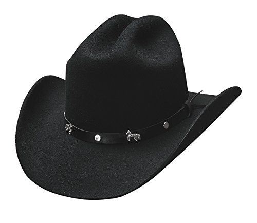 - Montecarlo Bullhide Child Hats - PASO BOYS - Western Kids Cowboy Wool Felt Hat (Large)