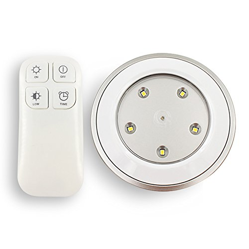CMB Tap Lights Wireless Remote Control Puck Light Battery Powered USB Rechargeable Dimmable lamp with Touch-Activated Sensor for Storage Room and Cabinet (Style 4)