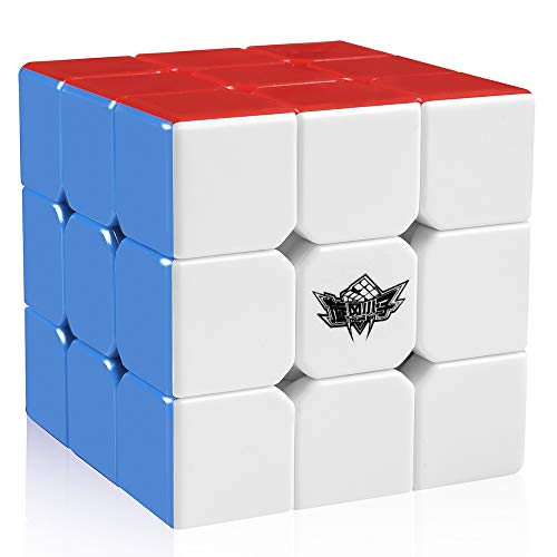 (D FantiX Cyclone Boys 3x3 Speed Cube Stickerless Magic Cube 3x3x3 Puzzles Toys (56mm))