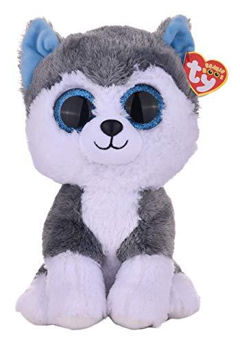 Ty Beanie Boos Slush Husky Dog, Grey