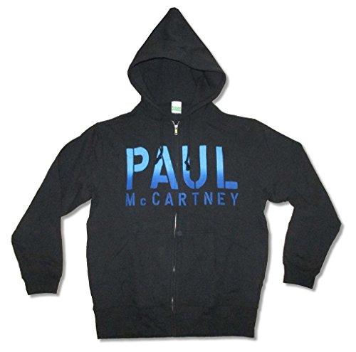 (Paul McCartney Guitar Image Gibson Les Paul Black Zip Sweatshirt Hoodie (XL))