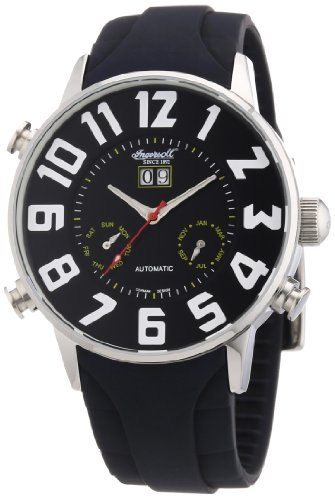 Ingersoll Men's Automatic Watch IN2811BK with Plastic Strap