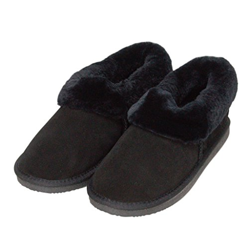 Slipper Boot Deluxe Rounded Ladies 'beccy' Black Sheepskin zqWZCn