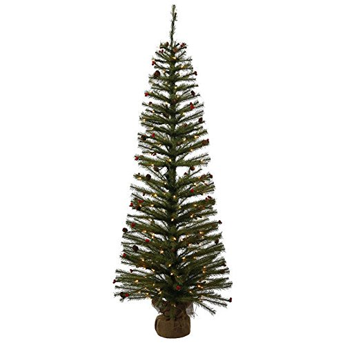 Vickerman-24-Fresh-Pistol-Berry-Pine-Artificial-Christmas-Tree-with-35-Clear-Lights