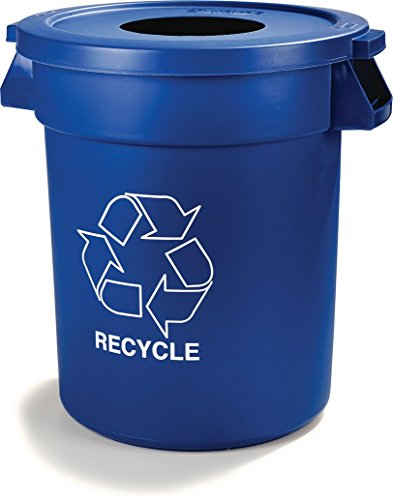 Carlisle 341032REC14 Bronco LLDPE Recycle Waste Container, 32-gal. Capacity, 22.37 x 27-3/4, Blue (Case of 4) by Carlisle (Image #5)