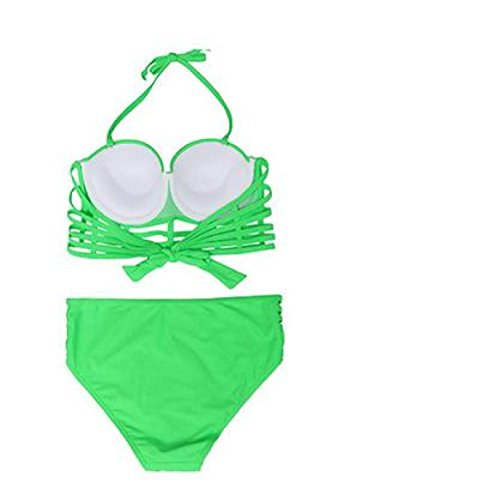 TAOZHN Bikini Femenino S M L XL XXL Deportes Acuáticos La Moda Cómodo Elegante Bikini Soporte Del Pecho Oscuro Green