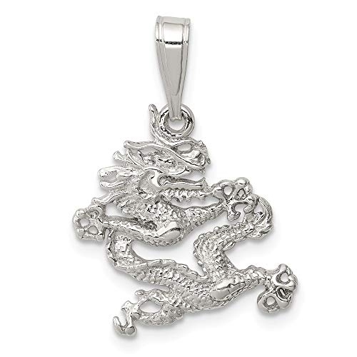 FB Jewels Solid Sterling Silver Dragon Pendant