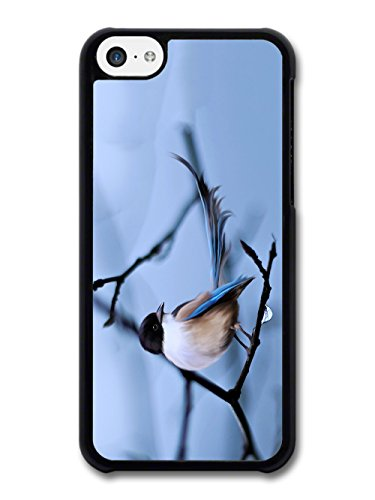 Blue Bird on Branch Digital Painting Nature Wild Animal case for iPhone 5C