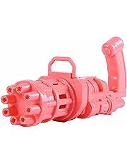 Electric Mini Gatling Bubble Gun for Colorful Bubbles (Pink)