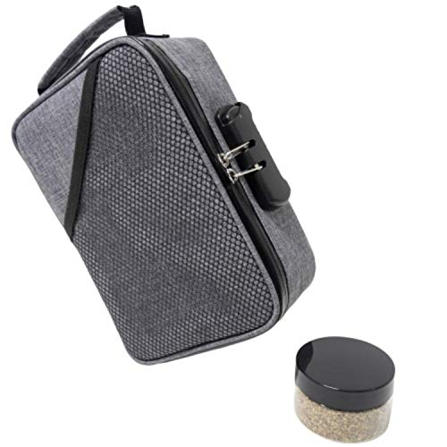 Smell Proof Bags by Hydroflyy - (Secure) Combination Lock and Large Storage Capacity, Keep Your Herb Stash, Jar, Weed, Vapes, Grinder and Rolling Papers in a Safe Place Plus Extra Smell Proof Jar. (Best Cheap Weed Vaporizer)